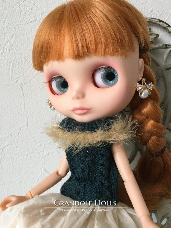 透かし編みベスト@Grandolf Dolls